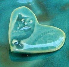 Odznaky/Brošne - brošňa srdce sova - 3913268_