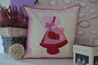 Textil - vankúšik dievčatko - 3917169_
