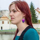Náušnice - Náušnice Double - purple and pink - 3917602_