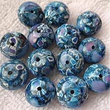 Minerály - MARBLE kameň 8x13mm-1ks (modrá capri) - 3916311_