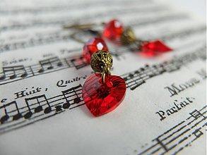 Náušnice - Vášeň v srdci - 3920654_