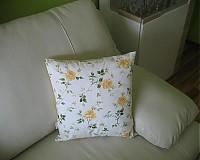 Úžitkový textil - Žlté ruže na vankúši - 3920079_