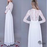 Šaty - Svadobné šaty s krajkovými rukávmi - 3918177_