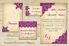 Papiernictvo - Kompletný set Bordeaux - 3918234_