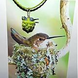 Náhrdelníky - Kolibrík na hniezde - 3918778_