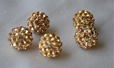 Korálky - shamballa korálky CZ kryštál champaigne, 8mm, 0.40€/ks - 3919466_