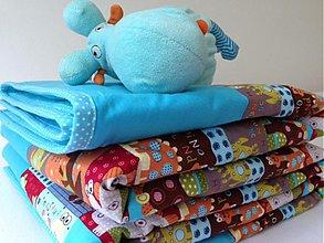 Textil - Farebná dinová veselá deka - 3921384_