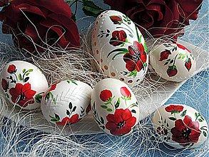 Dekorácie - Sada kraslíc - Krvavočervený kvet - 3922112_