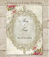 Papiernictvo - Etiketa na fľaše Victoria - 3923458_