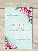 Papiernictvo - Svadobné oznámenie Peach - 3923478_