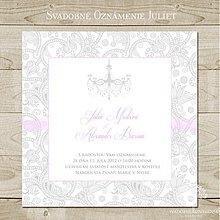 Papiernictvo - Svadobné oznámenie Juliet - 3923364_