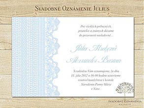 Papiernictvo - Svadobné oznámenie Julius - 3923394_