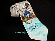 Doplnky - Hodvábna kravata Rybár - 3923575_