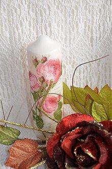 Svietidlá a sviečky - Sviečka Post Card Roses - 3927984_