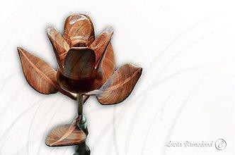 Dekorácie - Drevená ruža (Drewomil) - 3928076_