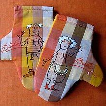 Úžitkový textil - BABI a DĚDA - chňapky - 3927126_