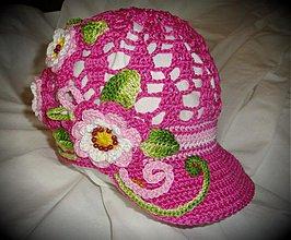 Detské čiapky - Kvetinková - 3927574_