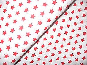 Textil - bavlněná látka-hvězdičky - 3926660_