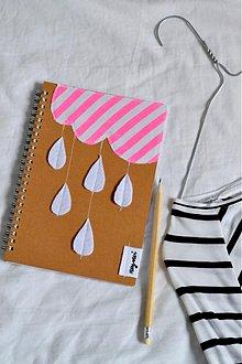 Papiernictvo - zápisník Prší - prší - 3928919_