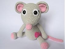 Návody a literatúra - Háčkovaná zaľúbená myška - návod - 3930728_