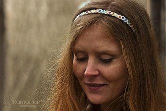Ozdoby do vlasov - Čelenka - farebné korálky - 3931161_