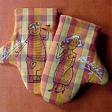 Úžitkový textil - DĚDEČEK a BABIČKA - chňapky - 3931002_