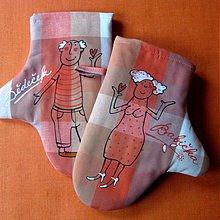 Úžitkový textil - BABIČKA a DĚDEČEK - chňapky - 3931134_