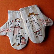 Úžitkový textil - MAMKA a TAŤKA - chňapky - 3931150_