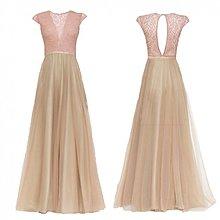 Šaty - Spoločenské šaty so šifónovou sukňou do A - 3931665_