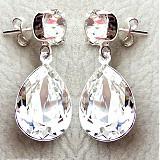 Náušnice - white crystals - 3933427_