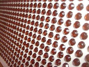 Galantéria - hnedé nalepovacie kamienky - 3933651_