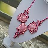 Náhrdelníky - Růžové vábení - náhrdelník - 3935789_