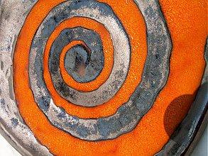 "Nádoby - misa oranžová hranatá "" veľká špirálka"" - 3934464_"