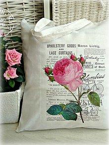 Veľké tašky - Shabby rose taška - 3935333_
