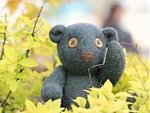 Dekorácie - Medveď zelený - 3937615_