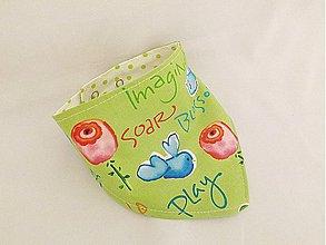 Detské doplnky - Nákrčník / šatka pre detičky Sweet birdie zelený - 3938675_