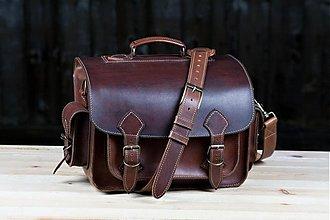 Iné tašky - Kožená fotobrašna XL - 3942339_