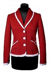 Kabáty - Dámske športové sako - červená/biela (R001) - 3943777_