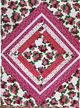 Úžitkový textil - Hortenzia - ružová/prehoz - 3942355_