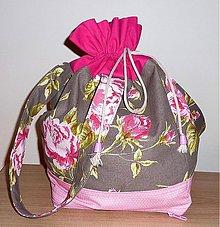 Veľké tašky - Kvetinková taška-vak. - 3941445_