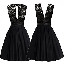 Šaty - Vintage koktejlové šaty s plastickou krajkou rôzne farby - 3945906_
