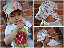Detské čiapky - ŠILTOFKA s plachtičkou - na objednávku - 3946993_