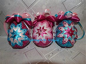 Dekorácie - Patchworkové vajíčka - 3947032_
