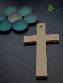 Polotovary - drevený výsek - kríž 8x 4 cm - 3950491_