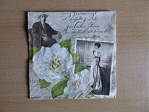 Papier - biela ruža - 3947395_