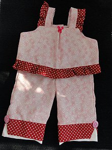 Detské oblečenie - Fashionable pink top and capri for little girls - 3951329_