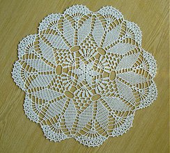 Úžitkový textil - Háčkovaná dečka -okrúhla - 3952179_
