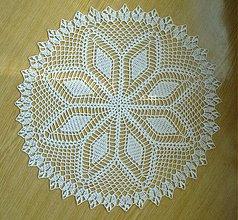 Úžitkový textil - Háčkovaná dečka - okrúhla - 3952194_