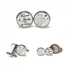 Šperky - Svadobné manžetky - motív na želanie - 3952164_