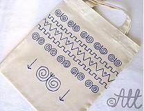 Nákupné tašky - Nákupná taška folk - 3953779_